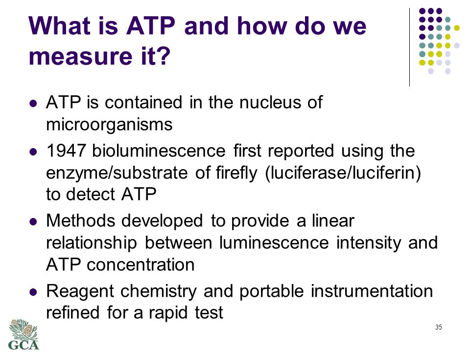 What is ATP and how do we measure it.