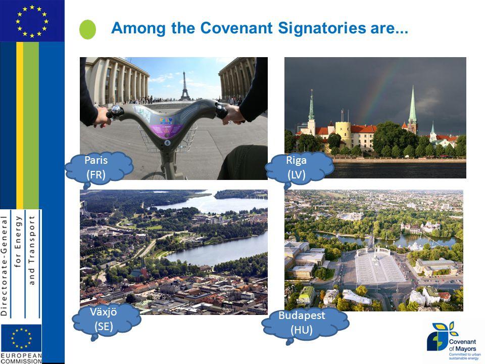 Among the Covenant Signatories are... Växjö (SE) Budapest (HU) Paris (FR) Riga (LV)