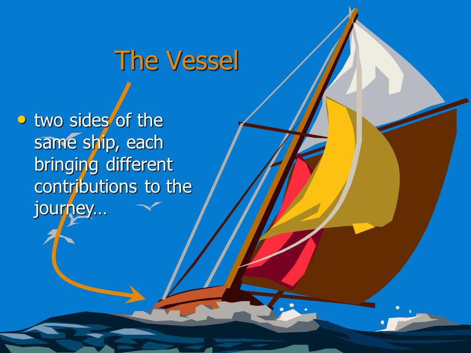 The Vessel two sides of the same ship, each bringing different contributions to the journey… two sides of the same ship, each bringing different contributions to the journey…