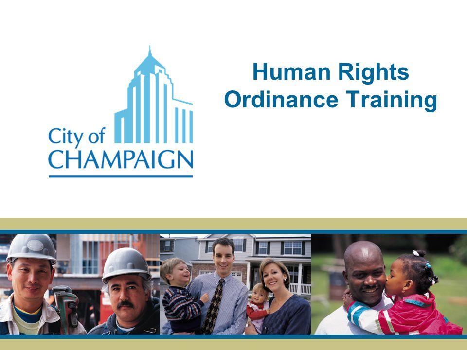 Human Rights Ordinance Training