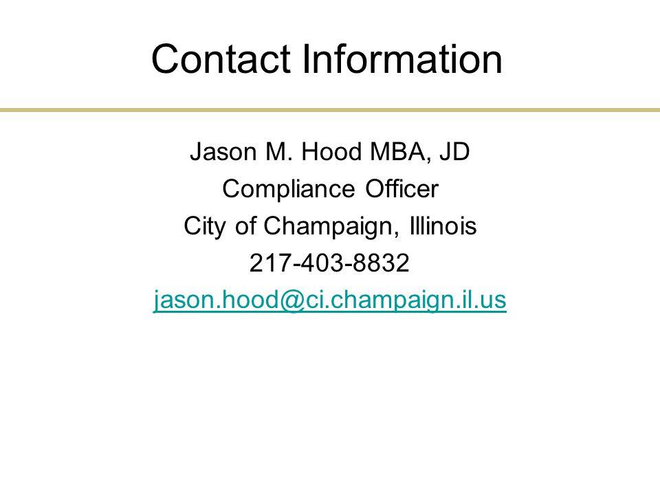 Contact Information Jason M.