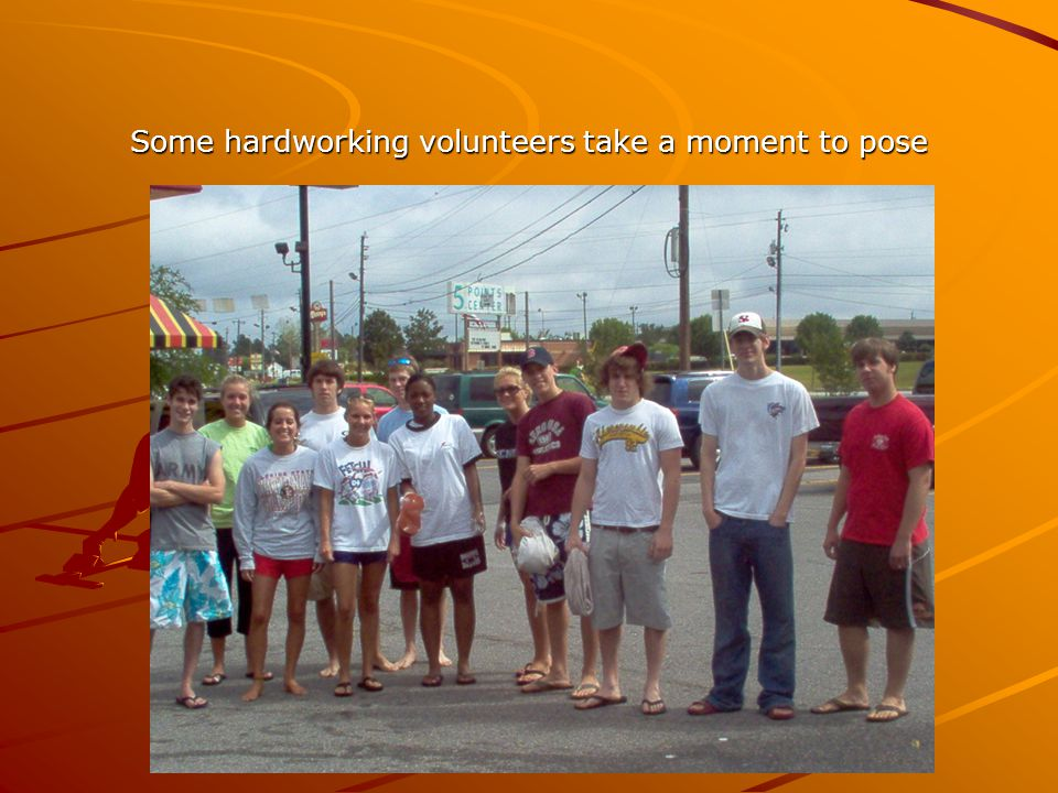 Some hardworking volunteers take a moment to pose