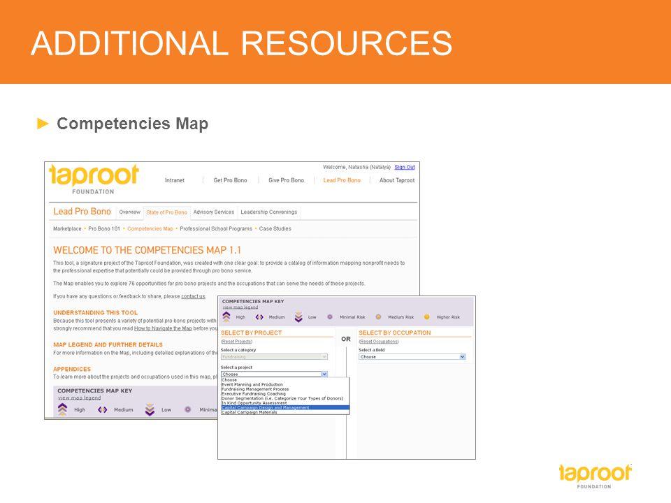 ► Pro Bono Marketplace Map ADDITIONAL RESOURCES