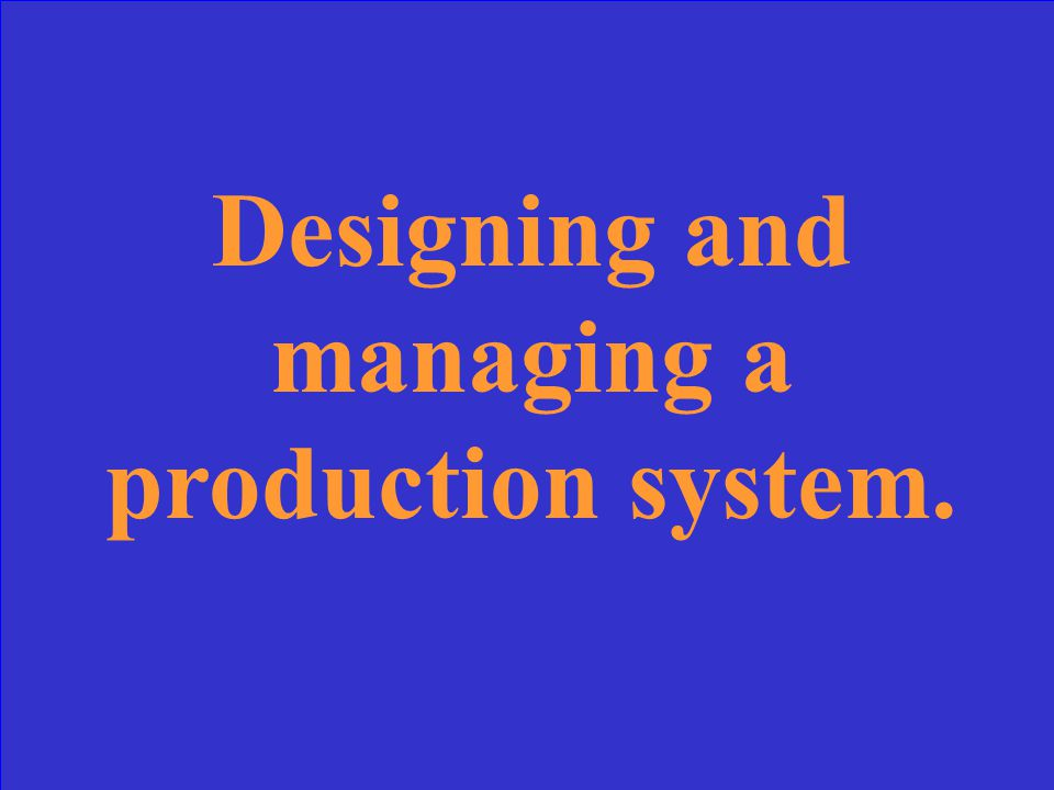 What is the production process?