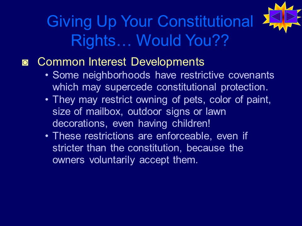 Giving Up Your Constitutional Rights… Would You?.