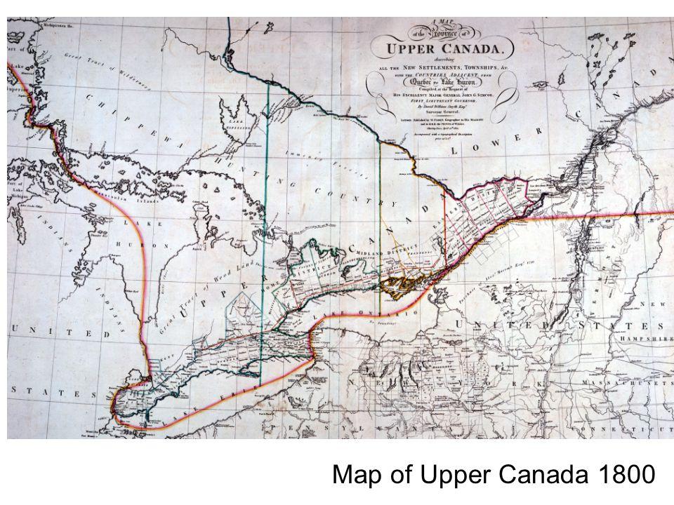Map of Upper Canada 1800