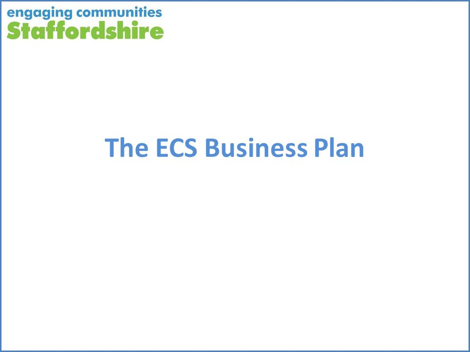 The ECS Business Plan