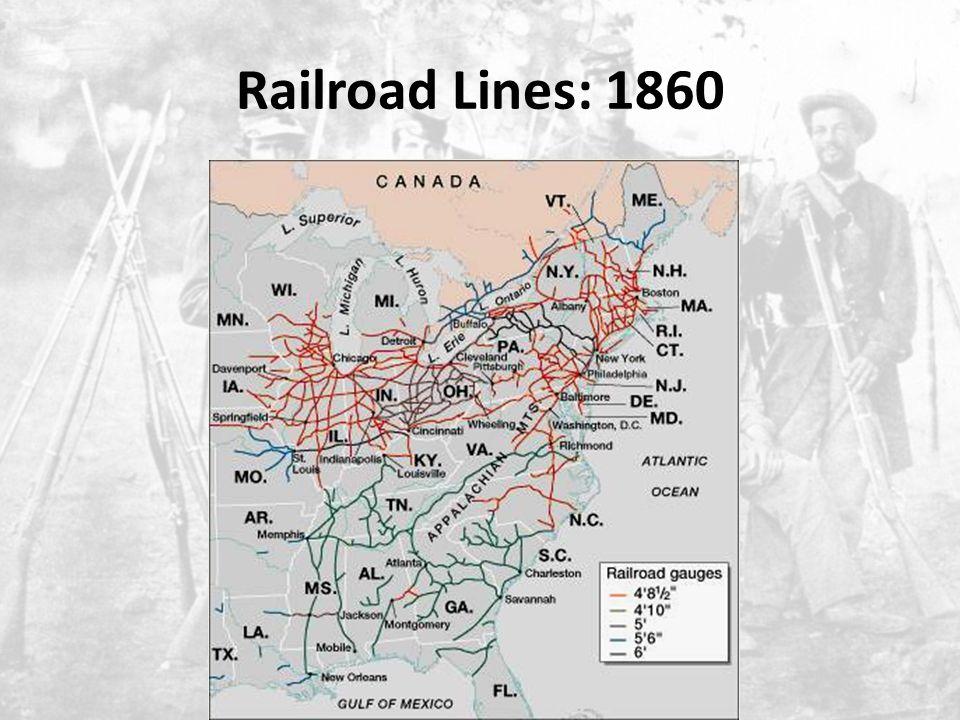 Railroad Lines: 1860