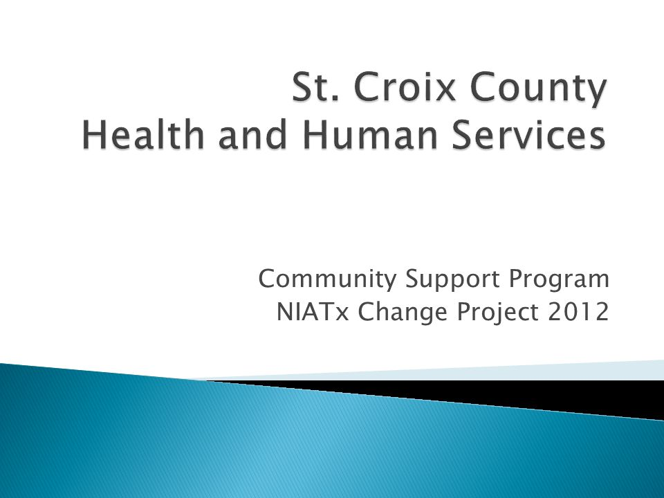 Community Support Program NIATx Change Project 2012