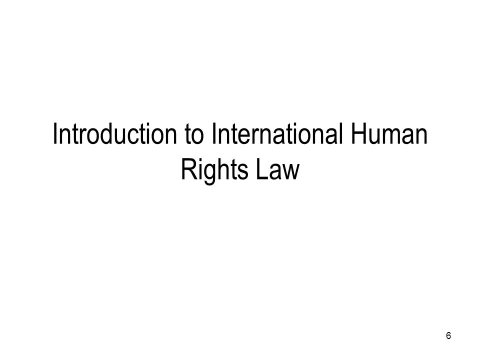 Introduction to International Human Rights Law 6