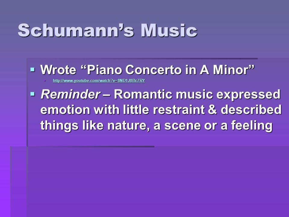 Comparing Schubert & Schumann