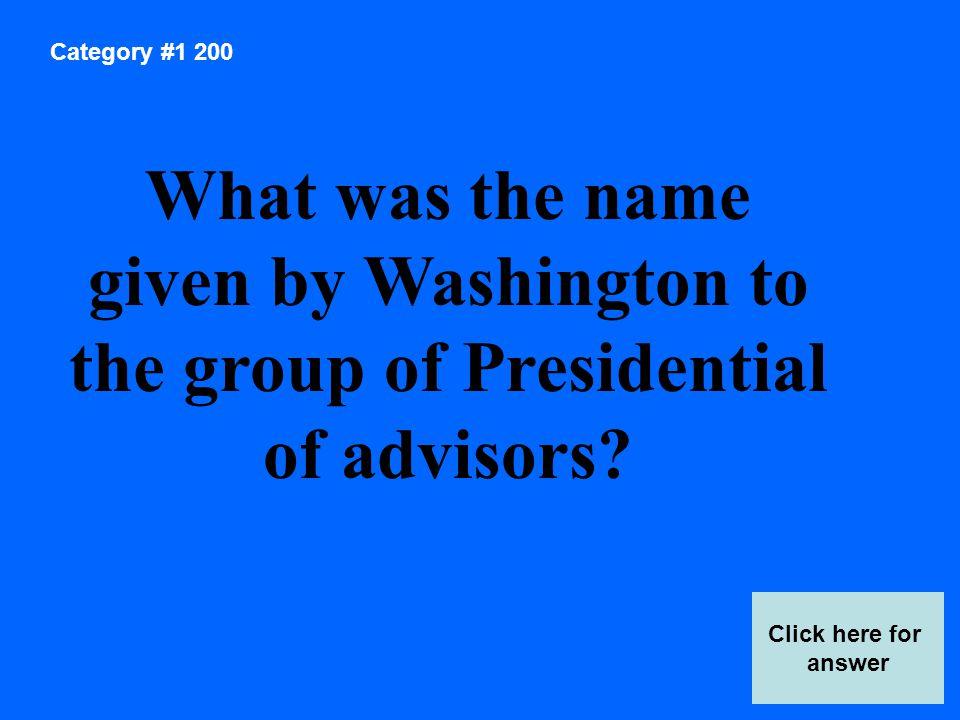 Category 2 Answer 400 Score Board The Louisiana Purchase Thomas Jefferson