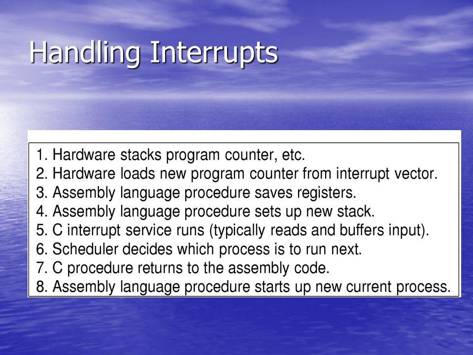 Handling Interrupts