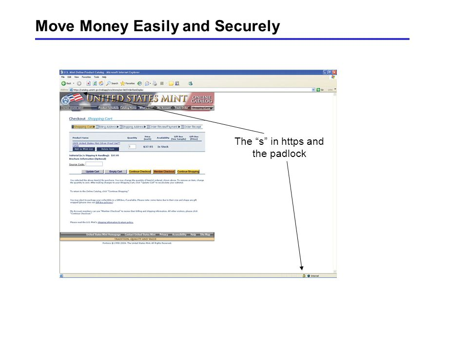 Move Money Easily and Securely The s in https and the padlock