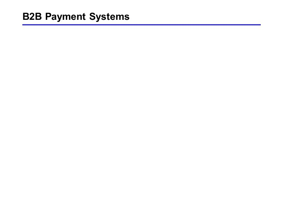 B2B Payment Systems