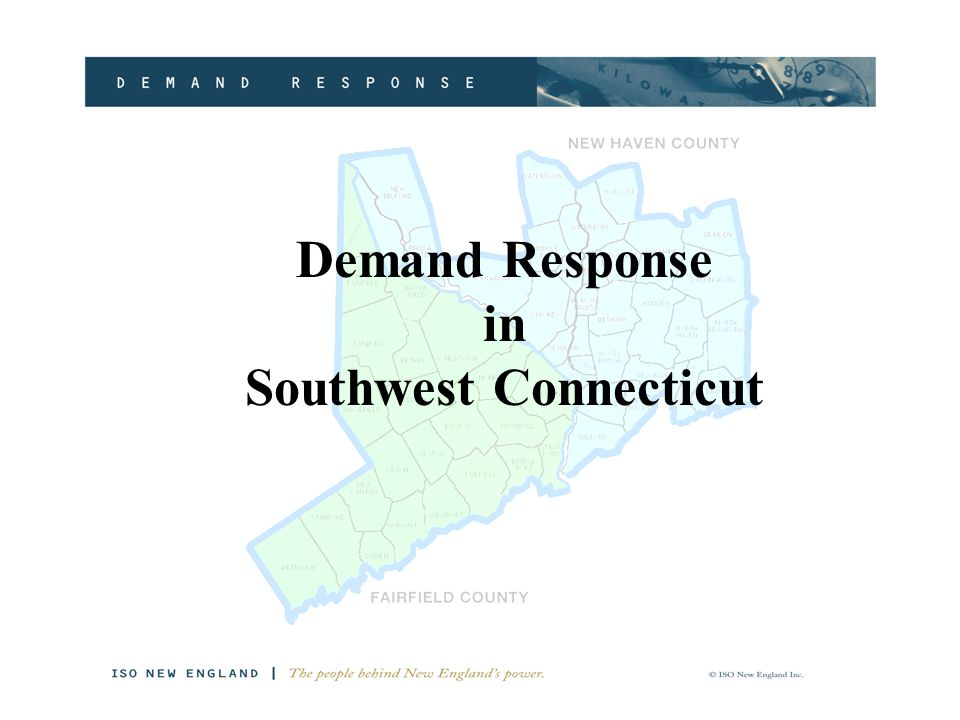 Demand Response in Southwest Connecticut