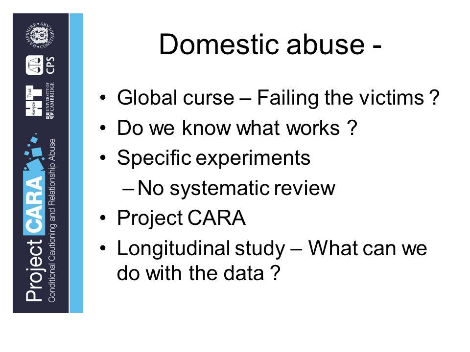Domestic abuse - Global curse – Failing the victims .