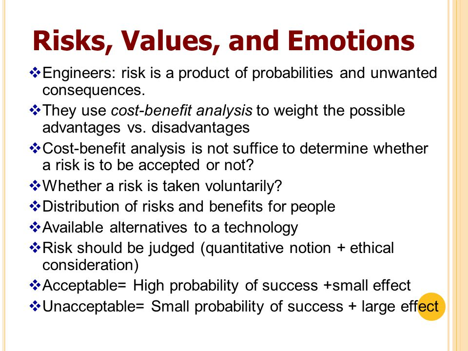 CONTINUE.. In the process, engineers have a richer understanding of risk than experts.