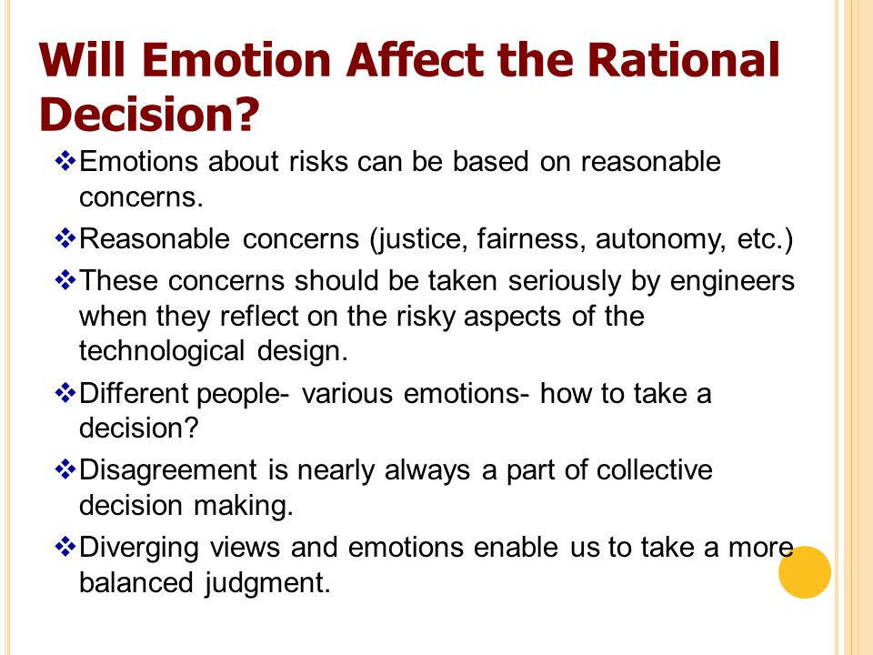 Will Emotion Affect the Rational Decision.