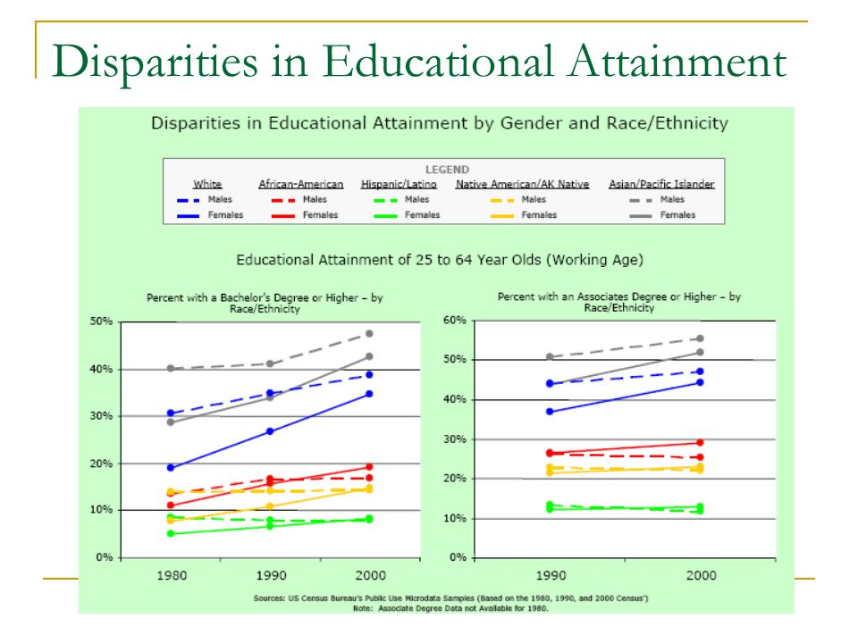 Disparities in Educational Attainment