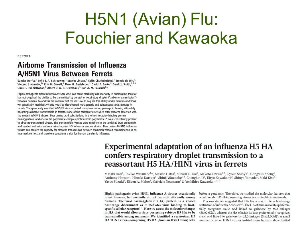 H5N1 (Avian) Flu: Fouchier and Kawaoka