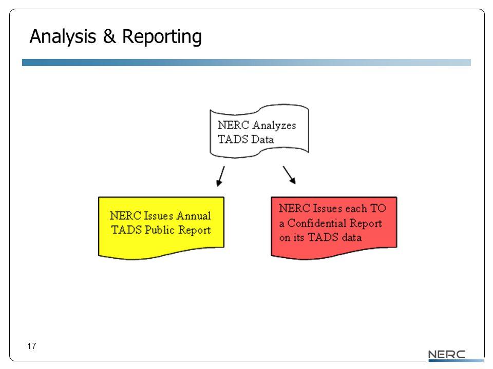 17 Analysis & Reporting