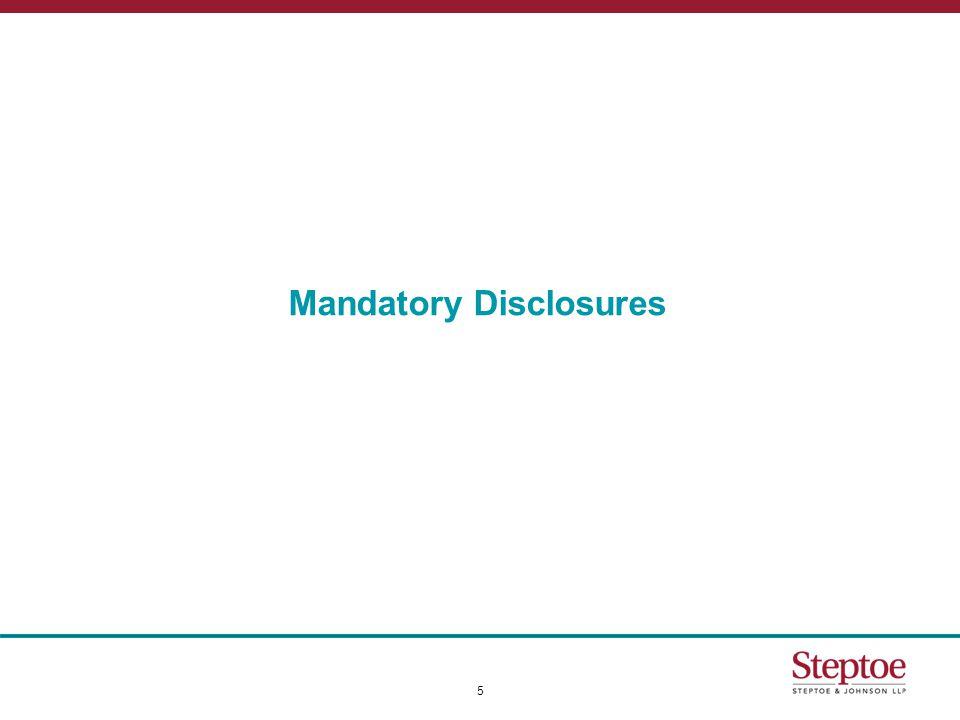 Mandatory Disclosures 5