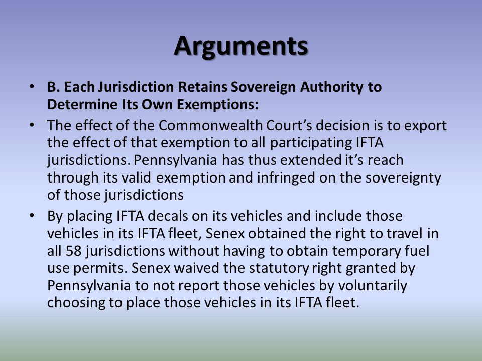 Arguments Pennsylvania courts have the full authority to interpret and apply Pennsylvania law and to determine whether or not the fuel used by special mobile equipment in Pennsylvania is subject to tax.