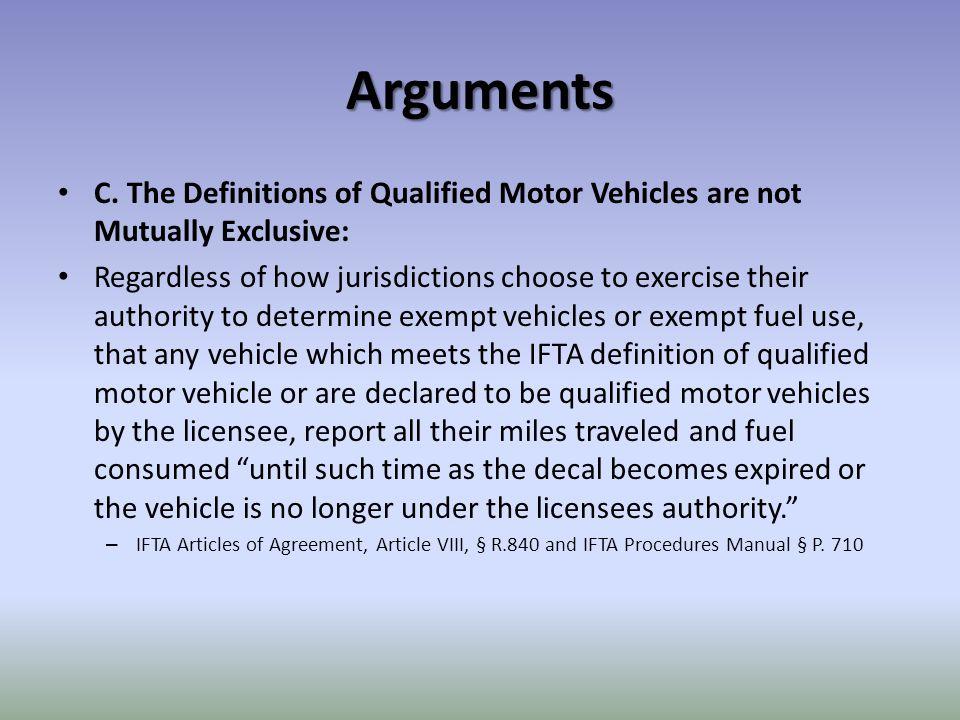 Arguments C.