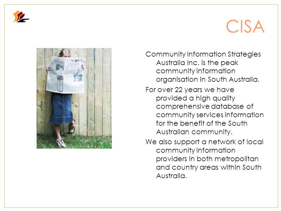 CISA Community Information Strategies Australia Inc.