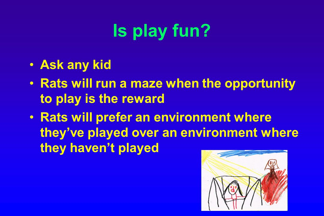 Is play fun.