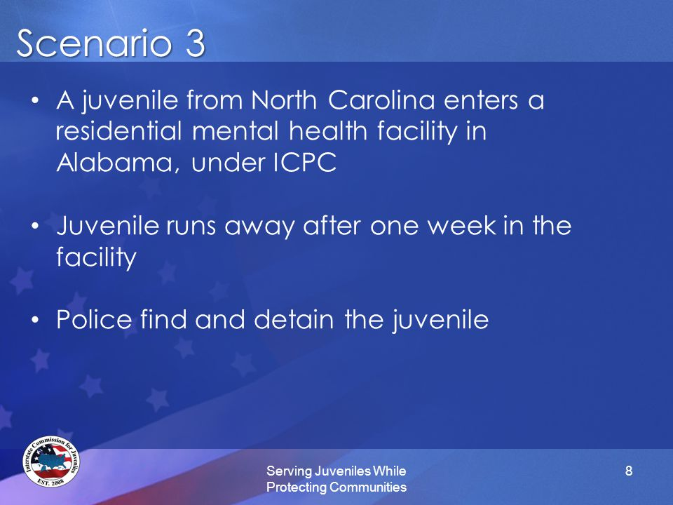 New Rule: ICPC Recognition New Rule: ICPC Recognition Serving Juveniles While Protecting Communities 9 ICJ recognizes the authority of ICPC under Article V of the Interstate Compact for the Placement of Children and supports their authority to return ICPC youth who have run away from their out-of-state placement resulting in a demand for their return by the sending state.