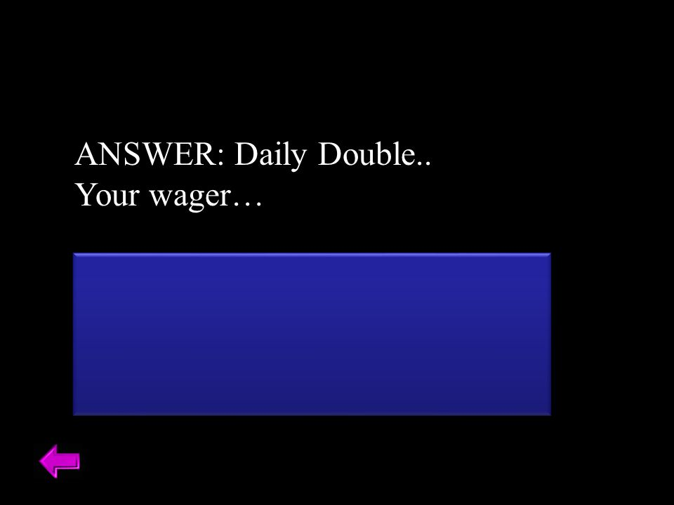 ANSWER: Daily Double.. Your wager… This makes up the floor of the nasal cavity