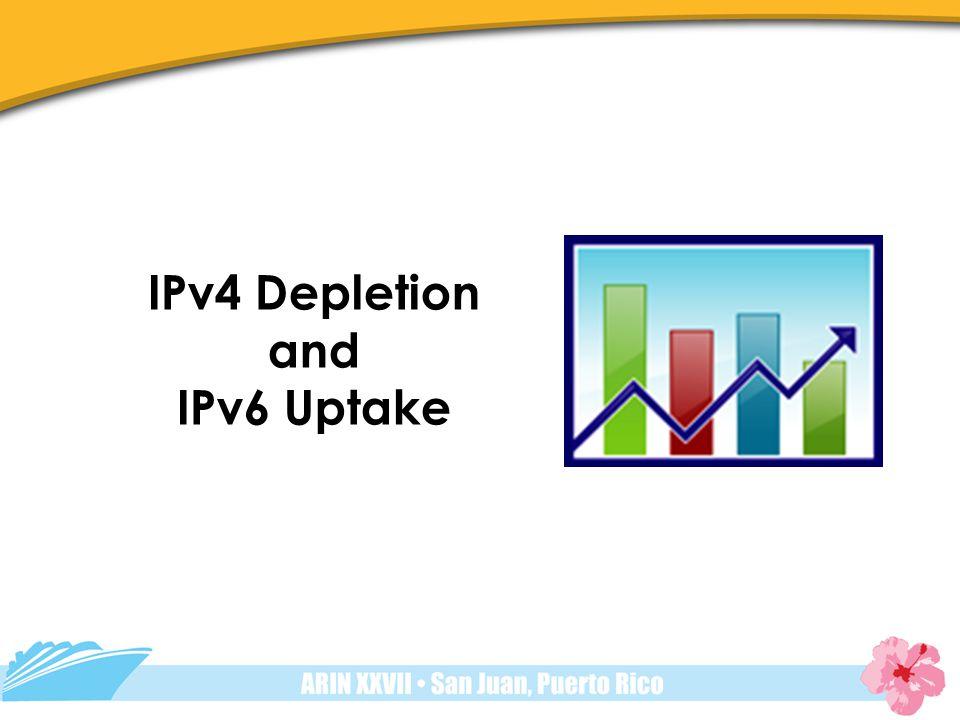 IPv4 Depletion and IPv6 Uptake