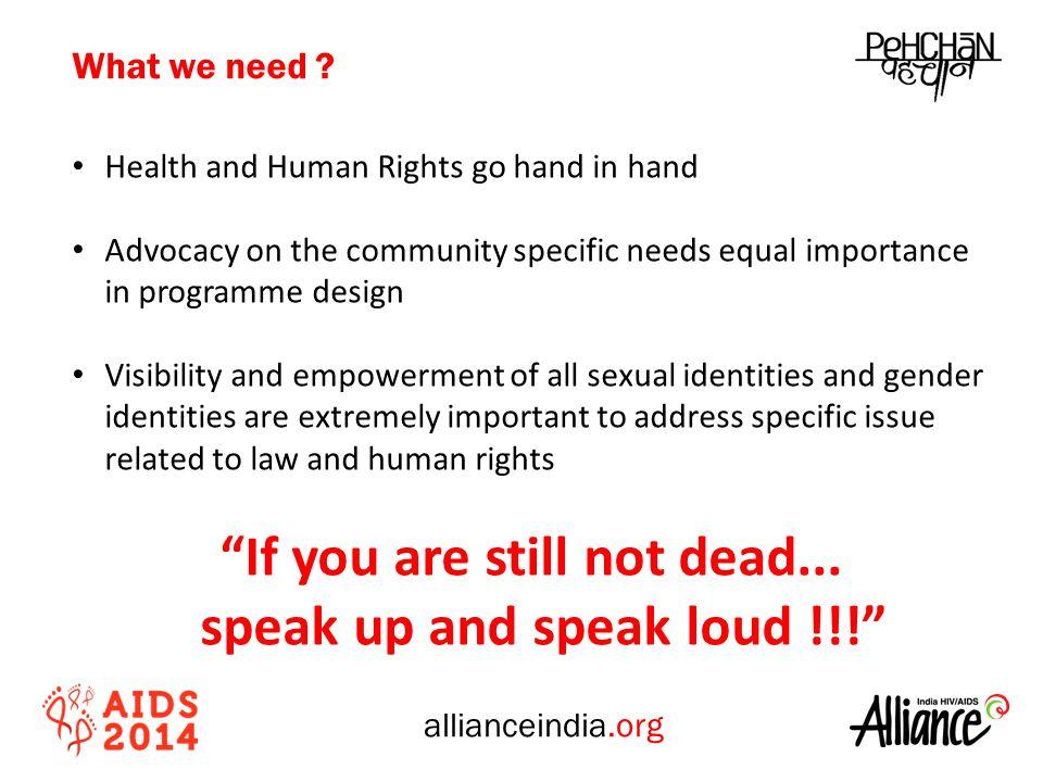 allianceindia.org What we need .