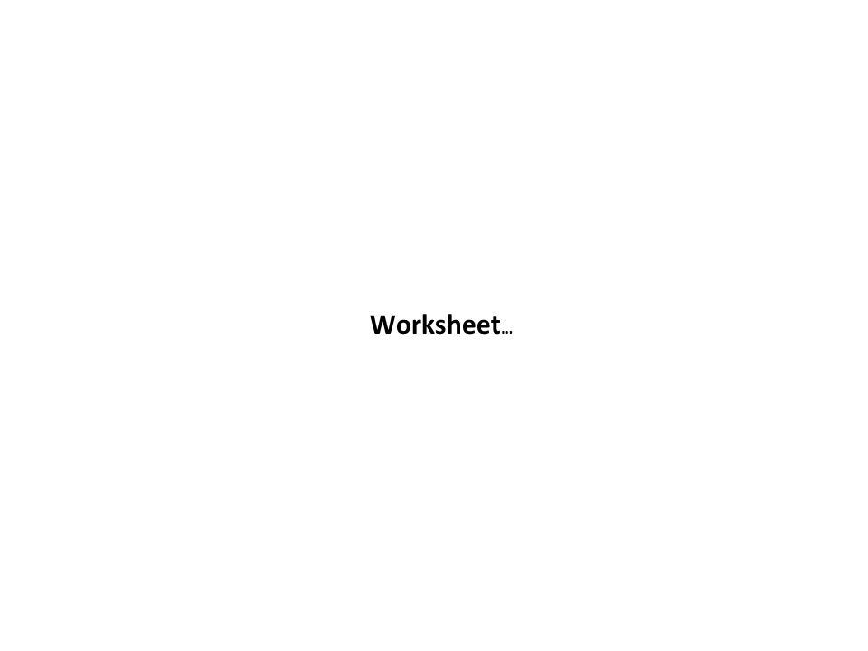 Worksheet …