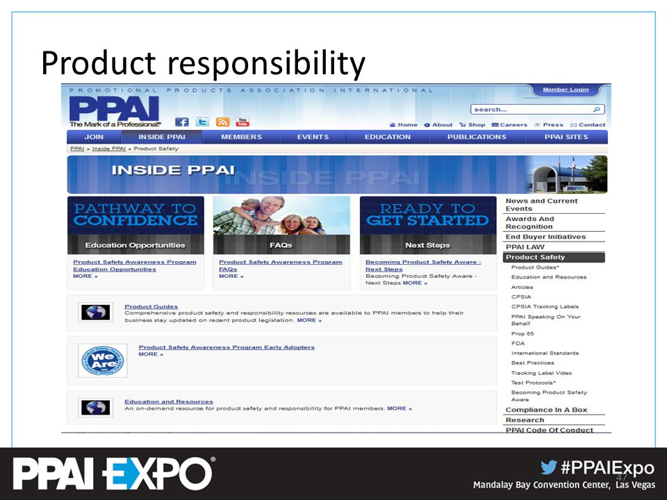 Product responsibility 47