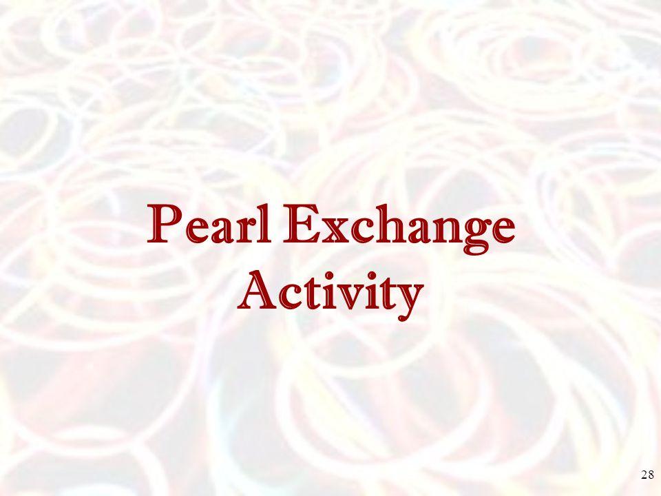 Pearl Exchange Activity 28