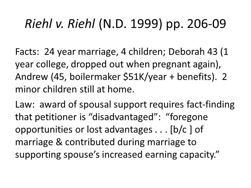 Riehl v. Riehl (N.D. 1999) pp.