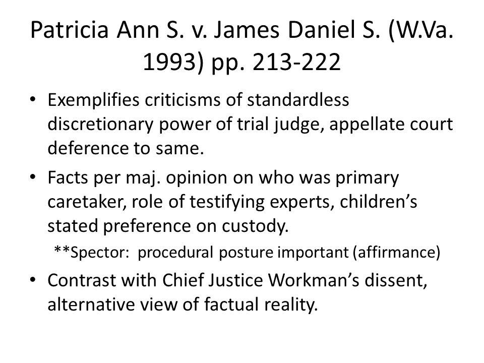 Patricia Ann S. v. James Daniel S. (W.Va. 1993) pp.