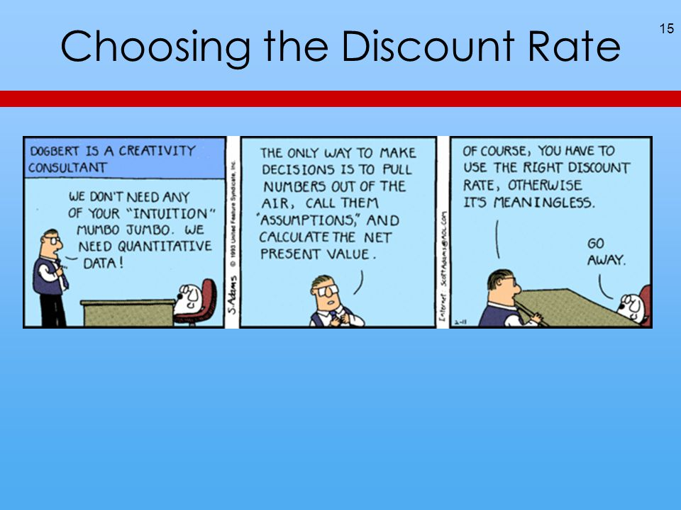 Choosing the Discount Rate 15