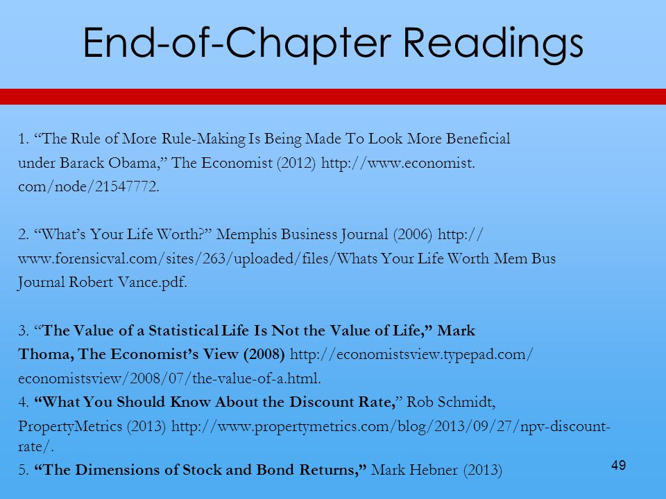 End-of-Chapter Readings 49 1.