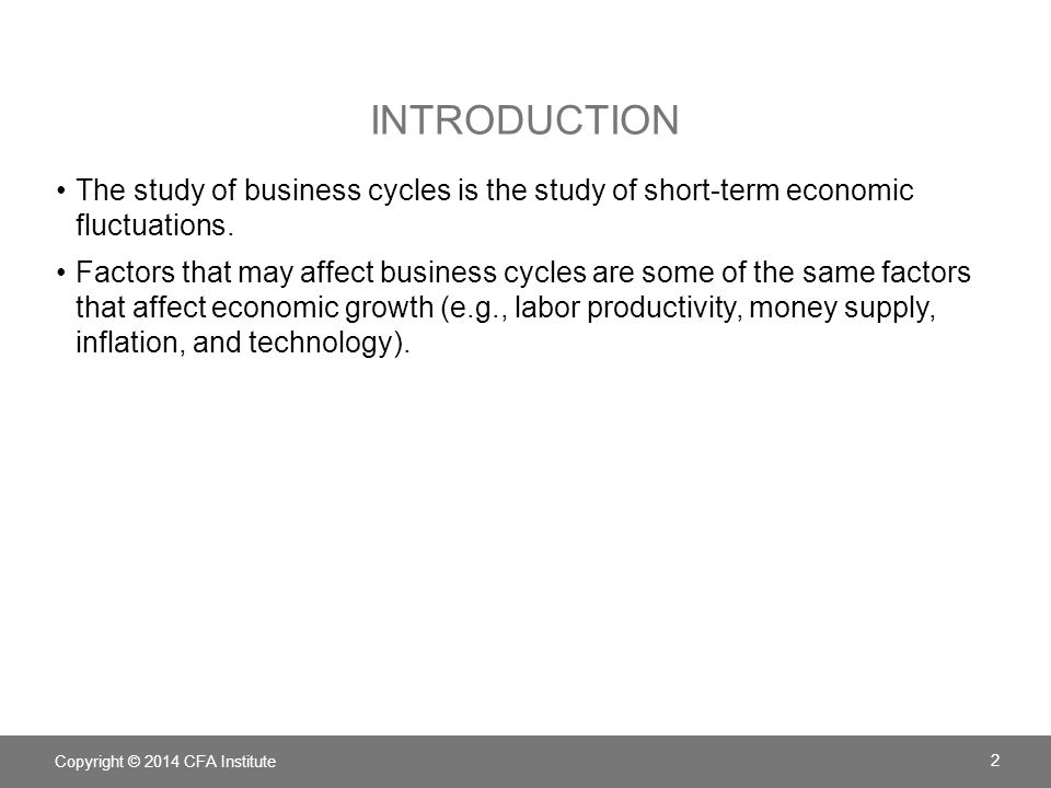 OVERVIEW OF THE BUSINESS CYCLE A business cycle consists of an expansionary period and a contractionary period.