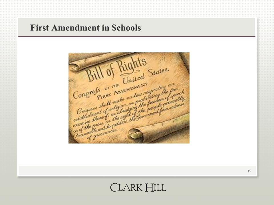 15 First Amendment in Schools