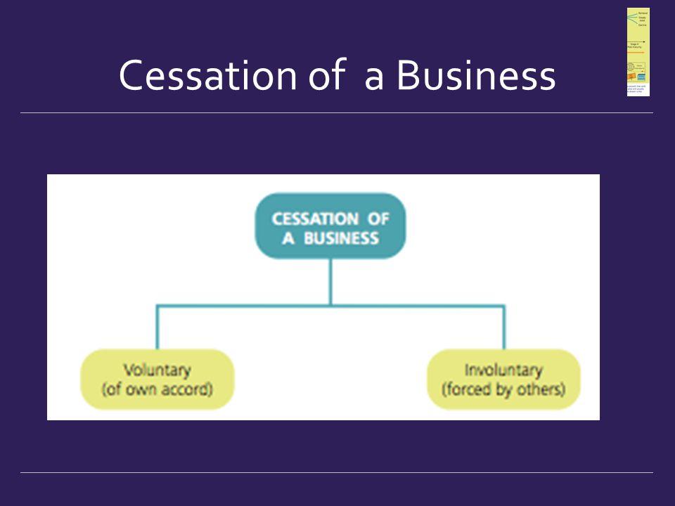 Cessation of a Business