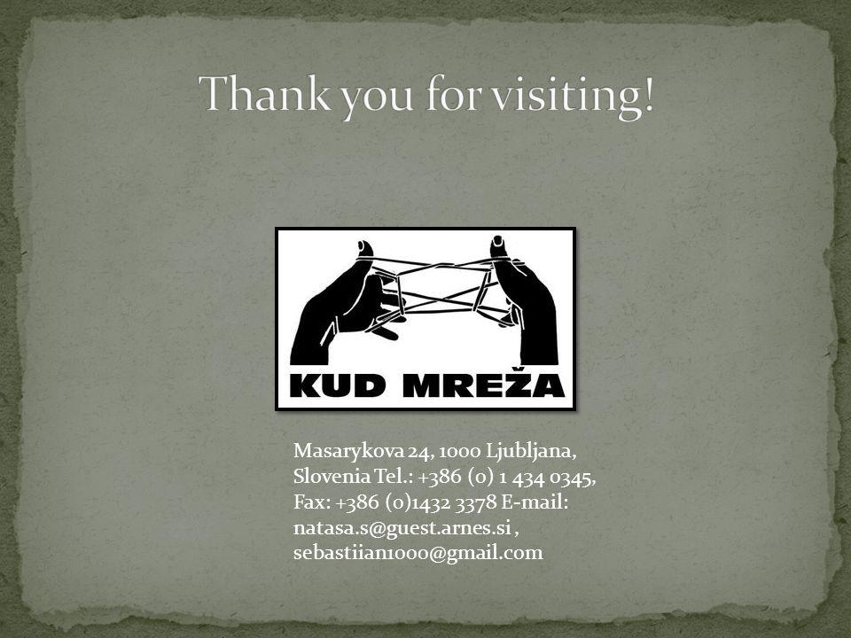 Masarykova 24, 1000 Ljubljana, Slovenia Tel.: +386 (0) 1 434 0345, Fax: +386 (0)1432 3378 E-mail: natasa.s@guest.arnes.si, sebastiian1000@gmail.com