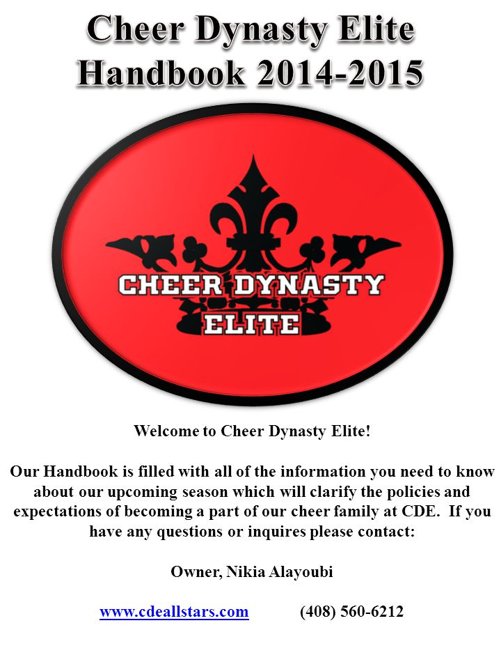 Parent & Student Handbook Why is Cheer Dynasty Elite the best.