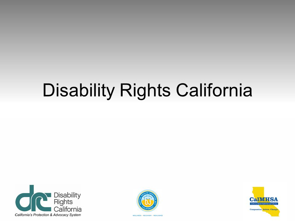Contact Information Disability Rights California 1831 K St.