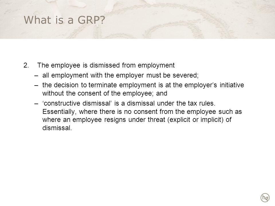 What is a GRP.