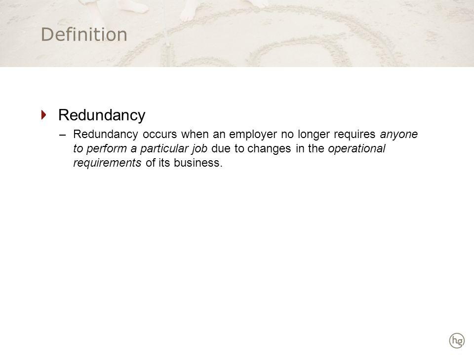 Genuine Redundancy .